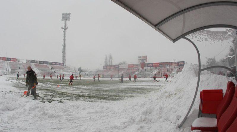 zima stadion orzeł Przeworsk ks Wiązownica