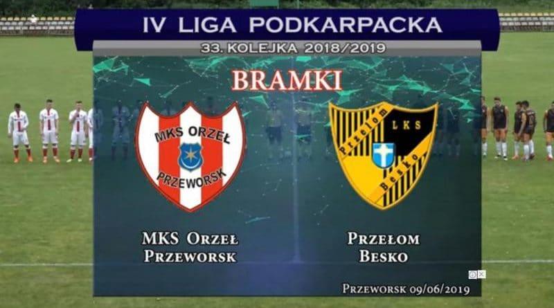 Bramki z meczu: ORZEŁ Przeworsk - PRZEŁOM Besko 3-0(2-0)